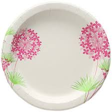 Pink Flower Paper Plates Glad 10 25 Round Paper Plates Blue Flower 50 Count Nicen Fun