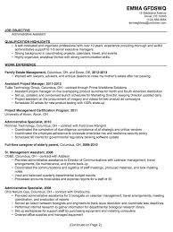 Resume Superb Sample Resumes For Administrative Positions Best