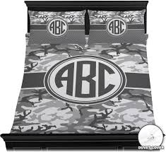 camo duvet cover set personalized