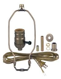 antique brass table lamp wiring kit with 3 way socket