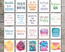 inspirational office decor.  inspirational 90 off sale  inspirational quotes watercolor art bundle set of 20  printables and office decor t