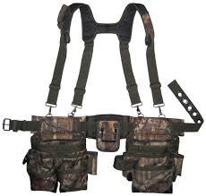 carpenter tool belt. carpenter camo tool belt suspenders holder durable pouch pocket roofer work new | ebay l