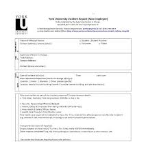 60 Incident Report Template Employee Police Generic Template Lab
