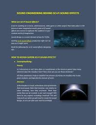 Sci Ppt Ppt Amazing World Of Sci Fi Sound Effects Powerpoint