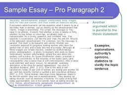 argumentative essay ppt sample essay pro paragraph 2