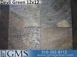 devli green 12x12 slate tile