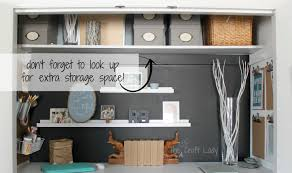 home office in a closet. Extra Storage Space In A Home Office Closet