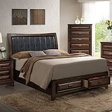 Amazoncom Prepac Espresso King Mates Platform Storage Bed with 6