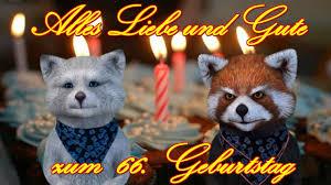 Alles Liebe Gute Zum 66 Geburtstag Happy Birthday