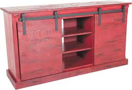 Red Barn Door TV Console Barn Door TV Stand Farm Door TV Console