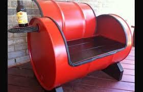drum furniture. DIY Recycled Metal Drum Furniture