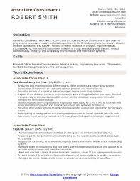 Sample Security Consultant Resume Associate Consultant Resume Samples Qwikresume