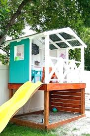 backyard playhouse for learn how to build a wooden outdoor playhouse for the kids this