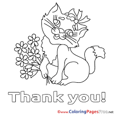 Awesome Thank You Coloring Page Photos At Pages