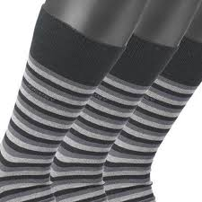 Men Socks In Grey Striped From Jockey Up To Size 46 In 3 Pack