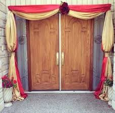 Small Picture Home dcor and Staircase drapes dcor for an Asian Indian Wedding