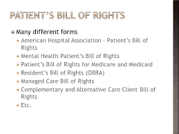 Bill Of Rights Powerpoint In A Healthcare Setting Ppt Video Online Download