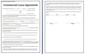 Free Commercial Lease Agreements Forms Free Basic Rental Lease Agreement Template Down Town Ken More