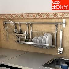 g1999 wall mounted stainless steel dish rack shelf chopsticks pot rack combination