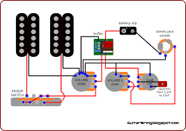 the guitar wiring blog diagrams and tips active guitar wiring the first volume potentiometer is placed before the buffer i putted it here because i don t want to lose this special impact of the passive 500k volume
