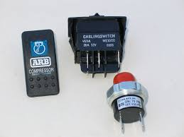 com arb air supply tech article by billavista the dash mounted compressor activation switch left and the compressor s pressure switch