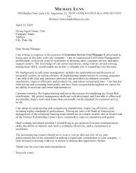 Call Center Cover Letter Sample Resume Customer Service