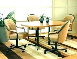 rolling dining chairs. Rolling Dining Room Chairs Kitchen Chair Casters Fashionable Within On Plans