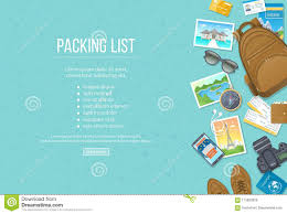 Packing List, Travel Planning. Preparing For Vacation, Travel ...