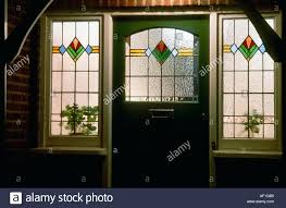 kitchen art stained glass front door at night kitchen art stained glass front door at night