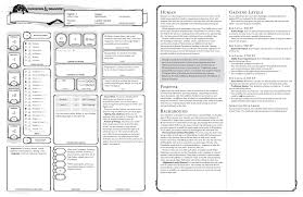 dungeons and dragons character sheet online d d 5th edition character sheet with pregenerated fighter example rpg
