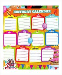 Birthday Calendar 14 Free Word Pdf Psd Documents