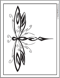 Small Picture Geometric Dragonfly Coloring Pages
