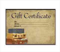 Free Certificate Templates For Word 9 Travel Gift Certificate Templates Doc Pdf Psd Free