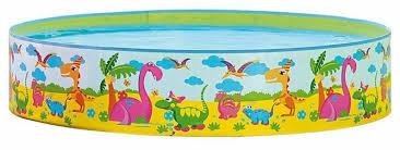 Детский <b>бассейн Jilong Dinosaur</b> Rigid JL017129NPF — купить по ...