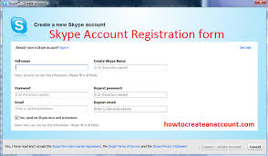 Create Skype Account Skype Sign Up How To Create A New Account For Skype