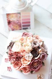 Buttercream Flower Cake With Color Chart