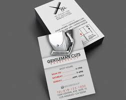 barbershop business cards barber business card etsy