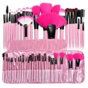 makeup kit for kids. zodaca pink pro 24pcs pouch bag case superior soft cosmetic makeup brush set kit for kids n