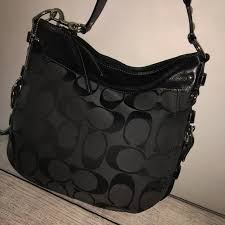 COACH ZOE X-LARGE Black Signature Hobo
