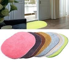 plain rugs bathroom carpet mat soft doormat floor oval non slip kitchen bath mats ikea
