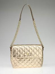 Marc Jacobs Gold Quilted Leather Bow Quilting Large Single Bag ... & Marc Jacobs Gold Quilted Leather Bow Quilting Large Single Bag Adamdwight.com