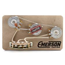 emerson custom guitars wiring kit emerson image emerson custom strat 5 way blender pre wired kit 250k ohm pots on emerson custom guitars