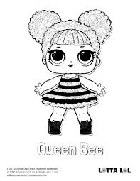 Queen Bee Coloring Page Lotta Lol Jazzie 7th Birthday Bee