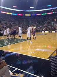 Courtside Seats At A Utah Jazz Game At Energysolutions Arena