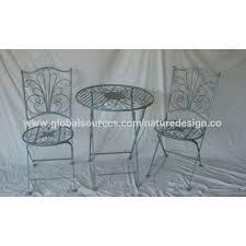 folding metal bistro table round patio