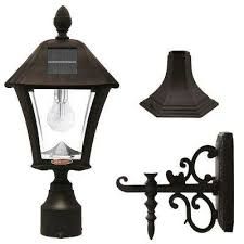 baytown bulb outdoor black integrated led solar post light