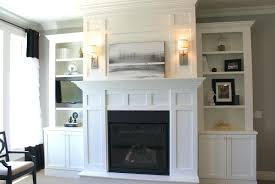 Ideas Fireplace Wall Decor With Tv Above Faedaworks Com