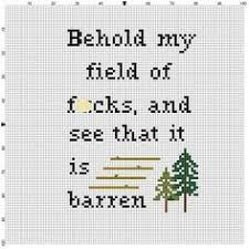 Funny Cross Stitch Patterns Free Enchanting Artsy Fartsy Don't Think I Won't Slap A Bitch Free Cross Stitch
