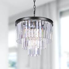 glass prism chandelier silver orchid 5 light antique black 3 tier chandelier with crystal glass prisms glass prism chandelier