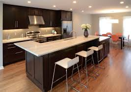cincinnati quartz countertops cost kitchen transitional with orange chairs manufactured wood dining side table